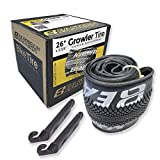 Eastern Bikes 26' Tire Repair Kit with or Without Tubes (Silver Logo, 2 Pack Without Tubes)