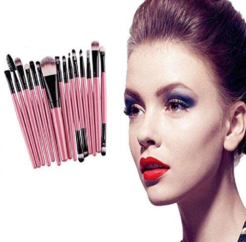 15 pcs Makeup Brush Set(1pc Puderpinsel,6pcs Lidschattenpinsel,1pc Augenbrauenpinsel,1pc...