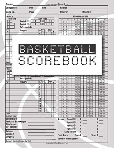 Basketball Scorebook: Basketball Game Record Book, Fouls, Outdoor , Scoring, Free Throws, Basketball Score Keeper, Basketball points Running score for … Inch), 100: visitors, for basketball player