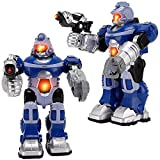 Liberty Imports Super Android Robot Toy for Kids with Space Blaster, Grip Claw Hand, Lights & Sound | Electronic Combat Robot Birthday Gift for Kids Boys