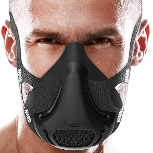 VO2MAX Training Mask  Workout High Altitude Elevation Simulation Oxygen Air  for Gym Cardio Fitness Running Endurance Resistance and HIIT Black
