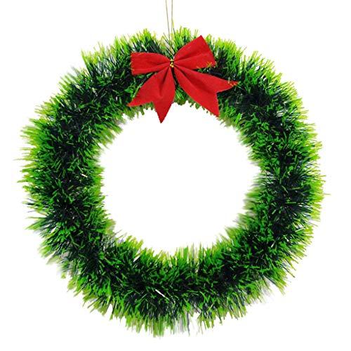 Yue668 - Guirnalda navideña de colores brillantes de guirnalda navideña para decoración de fiestas de 35 cm
