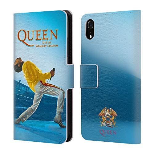 Head Case Designs Offizielle Queen Freddie Mercury Live at Wembley Kunst Leder Brieftaschen Huelle kompatibel mit Apple iPhone XR