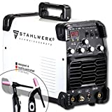 STAHLWERK AC/DC WIG 200 ST IGBT - combined inverter welder with 200 Ampere <span class='highlight'>TIG</span> & ARC MMA, Aluminium <span class='highlight'>welding</span>, white, 7 years manufacturer warranty