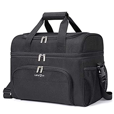 Lifewit Collapsible Cooler Bag Insulated Leakproof Soft Cooler Portable Double Decker Cooler