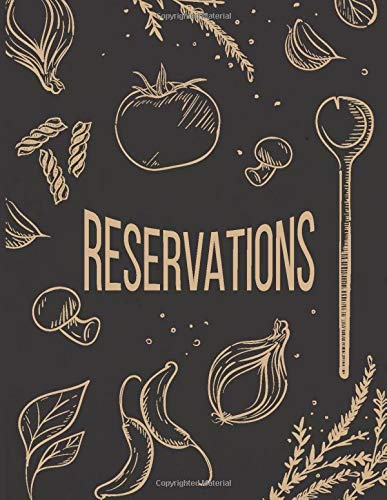 Reservations: Reservation Book For Restaurant | 2019 365 Day Guest Booking Diary | Hostess Table Log Journal | Black Tan
