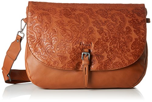 Think! Damen Tasche_383808 Umhängetasche, Braun (Braun (55 Cognac), 8.0x30.0x36.0 cm