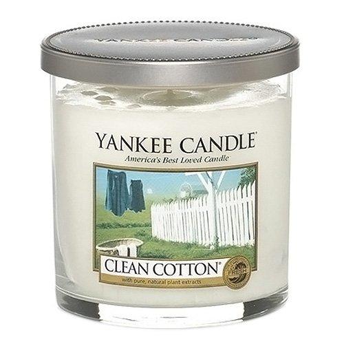 Yankee Candle bougie petite jarre cylindrique, « Coton frais »
