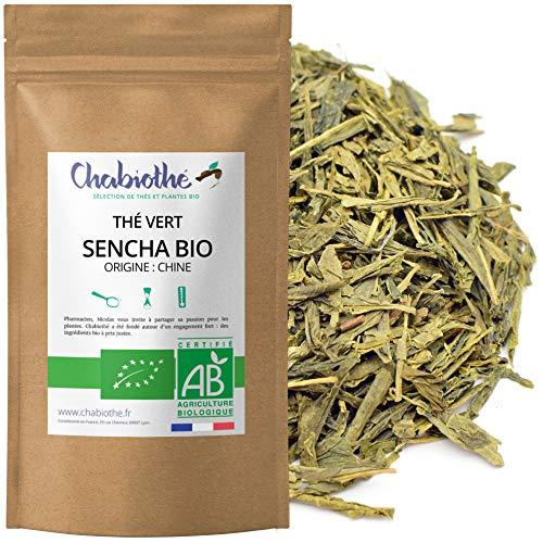 Chabiothé - Thé vert nature Sencha Bio 200g - conditionné en France - sachet biodégradable
