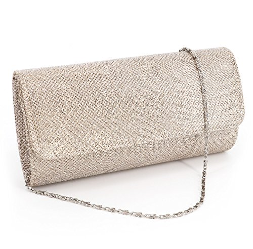 It is a 3 style in 1 bag (shoulder, clutch, purse) handbag Bag Dimensions: 8 in (L) X 2.5 in (W) X 3.5 in (H) It has lining and one pocket A beautiful bag for fancy events,evening out,birthday party and weddings Package included: 1* bag with silver c...