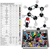 267 Pezzi Modello molecolare, Insieme di Chimica Modello molecolare di Chimica Organica Pacchetto Kit Modello Modelli di molecole organiche per Insegnanti Studenti Scienziato Classe di Chimica
