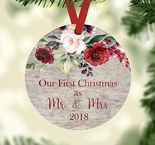 Teisyouhu Christmas Ornament - Our First Christmas as Mr. and Mrs. 2018 - Wedding Present Gift Tag