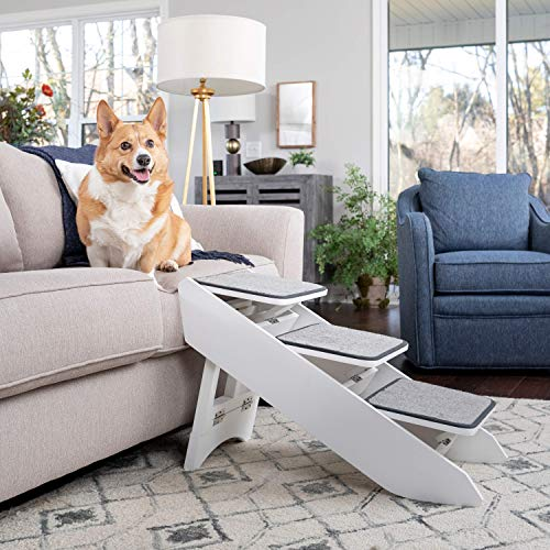 PetSafe CozyUp Steps & Ramp Combo – Dog and Cat Ramp with Stairs – Give Your Pets Easy Access to High Beds or Couch – Foldable Nonslip Design...