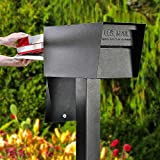Mail Boss 7526 Mail Manager Street Safe Locking Security Mailbox, Black
