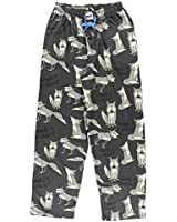 Lazy One Animal Pajama Pants for Men, Men's Separate Bottoms, Lounge Pants, Funny, Humorous, Wolf (Howl of The Night, X-Large)