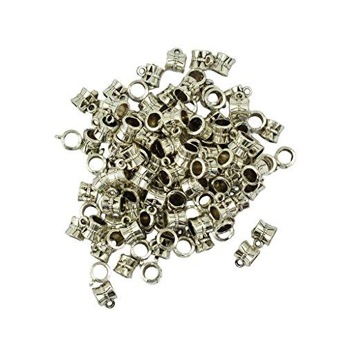 oshhni 100 Pieces/Lot Wholesale Hollow Hanger Hanger Dangle Spacer Beads