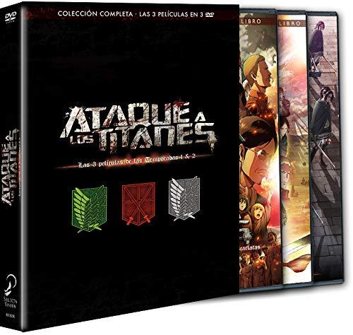 Ataque A Los Titanes. Pack 3 Películas. 'El Arco Y La Flecha Escarlatas', 'Las Alas De La Libertad', 'El Rugido Del Despertar'.Dvd