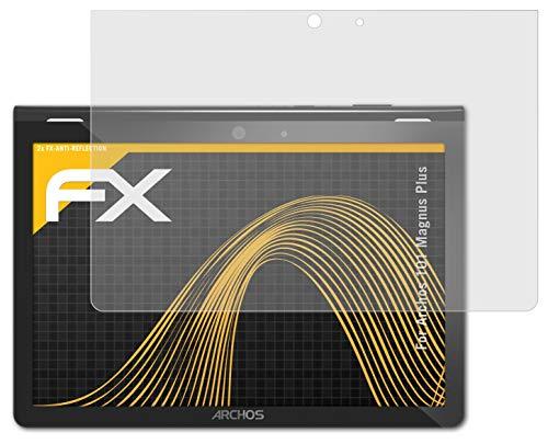 atFolix Panzerfolie kompatibel mit Archos 101 Magnus Plus Schutzfolie, entspiegelnde & stoßdämpfende FX Folie (2X)