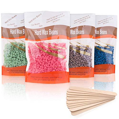 Granos de cera perla, depilación de cera, 4 granos de cera dura...