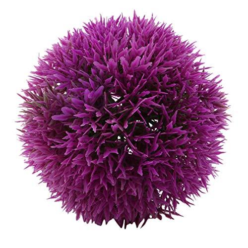 Sevenfly Buchsbaum Topiary Ball künstliche Topiary Pflanze Hochzeit Dekor Indoor/Outdoor künstliche Pflanze Ball Topiary Baum Ersatz (lila 12cm)