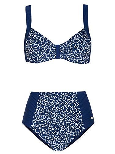 Susa 1880-371 Women's Red Safari Africa Blue Animal Print Bikini Set 42-B Cup