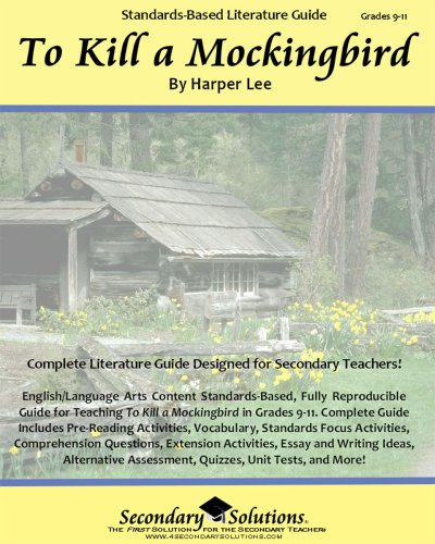 To Kill a Mockingbird Teacher Guide - complete lesson unit for teaching the novel To Kill a Mockingbird by Harper Lee