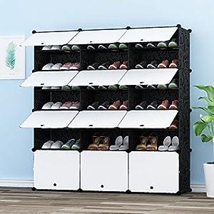 PREMAG Portable Organizador de Almacenamiento de Calzado Torre, Estantería de gabinete Modular para Ahorro de Espacio, Estante de Zapatero Estantes para Zapatos, Botas, Zapatillas 3 * 7