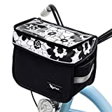 NELLISE Bike Handlebar Bag for Women with Touchscreen Phone Pouch | Stylish and Cute Large Capacity Waterproof Shoulder Bag | Bicycle Accessories Basket | Easy Quick Release Mount | Cyclist Gift