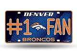 NFL #1 Fan US-Kennzeichen Metall-Schild Denver Broncos -