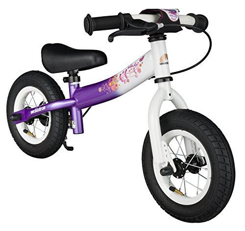 BIKESTAR Bici da corsa per bambini di 2 anni con pneumatici e freni | 10' Sport Edition | Candy Purple & Diamond White
