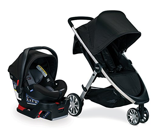 Britax B-Lively Travel System with B-Safe Ultra Infant Car Seat, Noir - Birth to 55 pounds