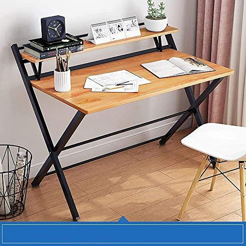Escritorio de computadoras 2 Niveles Plegables portátil Plegable Collapsible Que estudian el Escritorio de Trabajo para el Dormitorio de la Oficina en el hogar (Color: a)-B Iteration