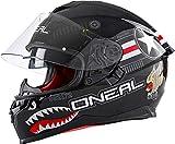 O'Neal Challenger Wingman Motorrad Helm Pinlock Sonnenvisier Straße Integral Magnetverschluss, 0805, Farbe Schwarz, Größe XS Casco Moto MX-Motocross, Unisex Adulto, Negro