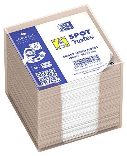 Taco de notas con dispensador Oxford. 800 Hojas en blanco. 9 x 9 cm