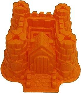 GMMH Moule à gâteau en Silicone Forme château Taille XXL Orange