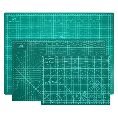 Queiting A3 Cutting Mat Self Healing Non Slip Mat Printed Grid Lines Board for Craft Art Design for Accurate Cutting Crafting (A1)