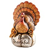 Cypress Home Decorative Be Thankful Hand-Painted Thanksgiving Turkey Tabletop Centerpiece Decor