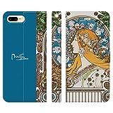 ブレインズ iPhone8Plus 7Plus 6sPlus 6Plus 手帳型 ケース カバー ミュシャ 黄道十二宮 zodia……