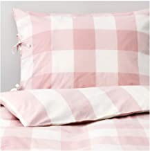 IKEA ASIA Emmie Ruta Quilt Cover and 2 Pillowcases, Light Pink, White