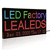 Leadleds P3 Full Color WiFi LED Sign Scrolling Message Board, Portable LED Billboard Support Text, Animation, Countdown, Timer Indoor Use for Store, Coffee, Bar (L 15.2' x W 7.7')
