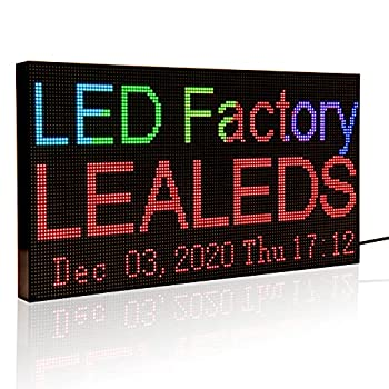 Leadleds P3 Full Color WiFi LED Sign Scrolling Message Board Portable LED Billboard Support Text Animation Countdown Timer Indoor Use for Store Coffee Bar  L 15.2  x W 7.7