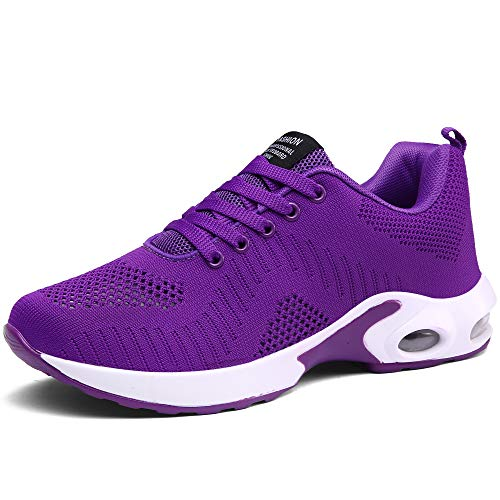 CASMAG Women's Lightweight Cross-Traning Running Shoes Athletic Sport Shoes Purple 8 M US