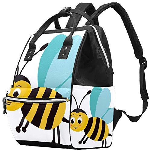 Mignon Little Bee Sac à dos à langer multifonction de voyage Sac à dos à langer Grande capacité Sac d'allaitement Sac de maternité