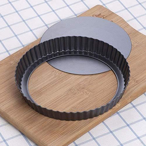 Tart Pan, Quiche Pan, JACKSUN Non-Stick Removable Loose Bottom Carbon...