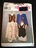 Simplicity 9891 Sewing Pattern, Misses' Jackets and Vests, Size H (6,8,10)
