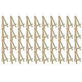 RWEAONT Mini Wood Pantalla Easel, 40pcs, Mostrar pequeñas lienzos, Tarjetas de Visita, Fotos (Color : A)
