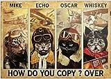 SIGNCHAT Placa decorativa para decoración de pared con texto en inglés 'How Do You Copy Over For Home Garden Poster de Mike Echo Oscar (20,3 x 30,5 cm)