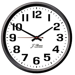 J. Thomas Ohm Electric Wall Clock - 10 Diameter. Perfect as an Office Wall Clock or for The Home. Automatically Adjusts for Daylight Savings Time - No Signal Required. Proudly Made in The USA!