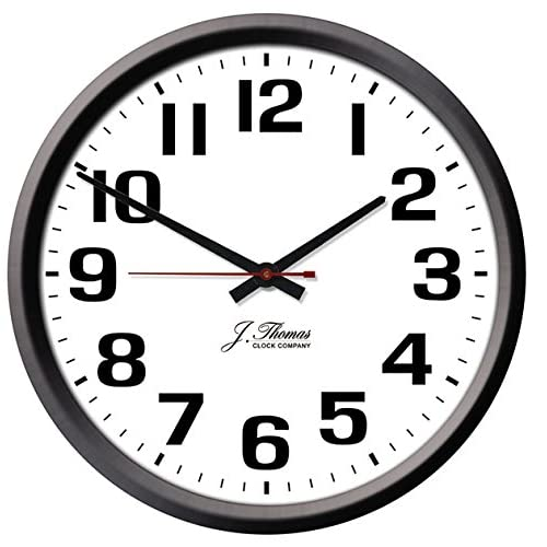 Amazon Com J Thomas Ohm Electric Wall Clock 10 Diameter Perfect As An Office Wall Clock Or For The Home Automatically Adjusts For Daylight Savings Time No Signal Required Proudly Made