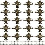 Monland 20 piezas de madera con diseño retro para joyas, joyas, joyas, joyas, accesorios para caja de madera vintage